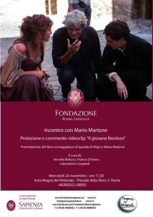 Bozza locandina Incontro con Martone - 26-11-2014